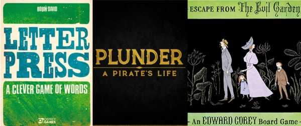 Barnes on Games- Letter Press, Plunder: A Pirate's Life, Escape from the Evil Garden Reviews