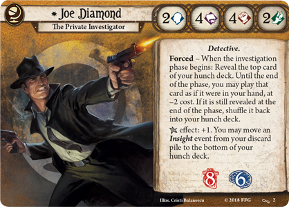 Joe Diamond Investigator Card