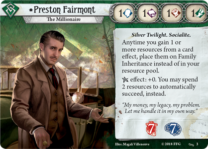 Preston Fairmont Investigator Card