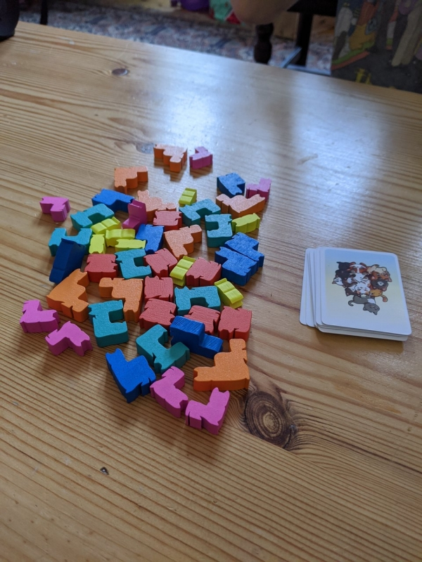 Group of cat meeples