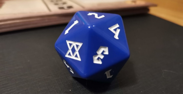 The TAZ D20, with its critical hit symbol – a guaranteed win
