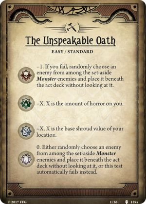 Unspeakable Oath