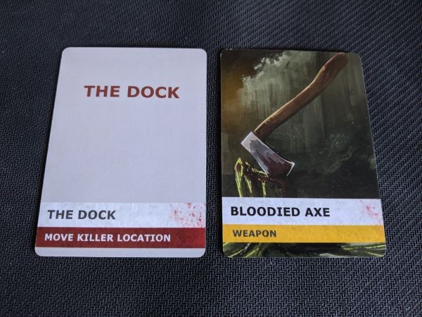 Move Killer Location Dock card and Axe Weapon card