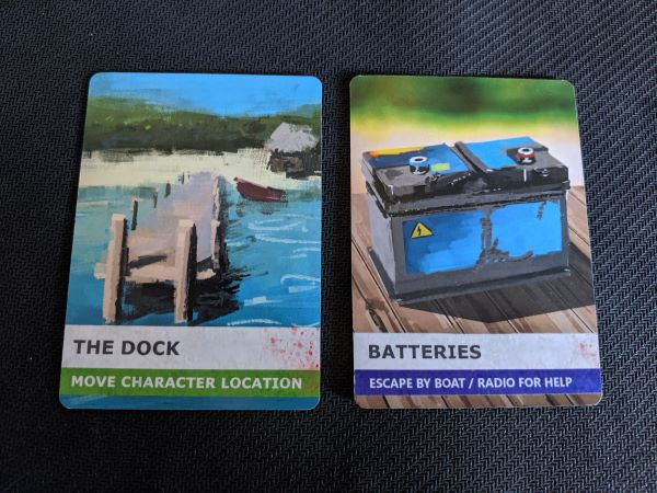 Move Character Dock card, Equipment Batteries Card