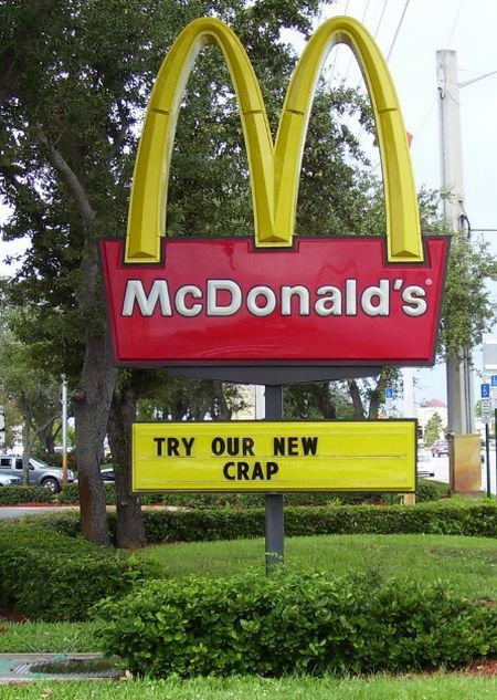 mcdonalds try our new crap 2548
