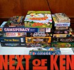 Next of Ken, Volume 26:  Asmodee's Lost at Sea adventure, and a Boardgaming Birthday Bash!