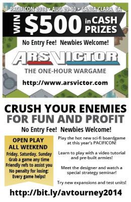 Win $500 in Cash Prizes Playing Ars Victor at Pacificon 2014!
