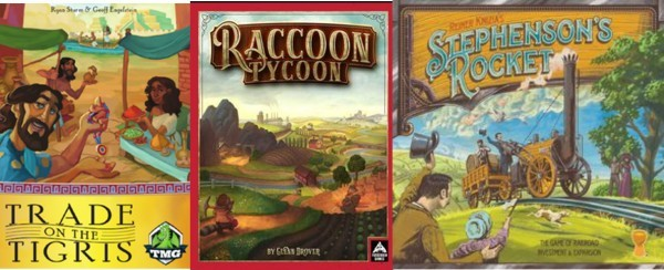 Barnes on Games #11 - Trade on the Tigris, Raccoon Tycoon, Stephenson's Rocket Reviews