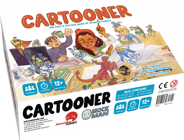Cartooner: The Fast and Furious Game of Drawing Comics - Board Game Review