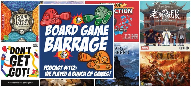 We Played a Bunch of Games! - Board Game Barrage
