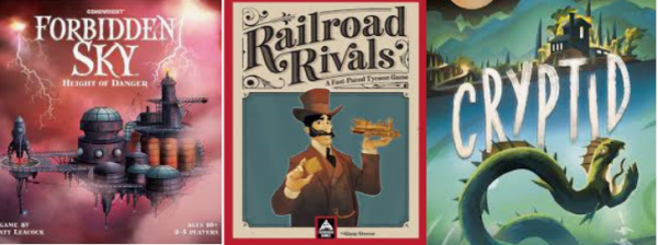 Barnes on Games #7 - Forbidden Sky, Railroad Rivals, Cryptid